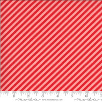 Moda Fabric - Shine On - Bonnie & Camille - Stripe Red Pink #55215 15