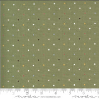 Moda Fabric - Folktale - Lella Boutique - Magic Dot Olive #5124 15