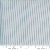 Moda Fabric - Folktale - Lella Boutique - Skinny Stripes Sky #5125 17