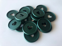 Plastic Planner Discs - Medium - Matte Dark Green - Set of 11