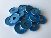 Plastic Planner Discs - Medium - Matte Blue - Set of 11