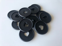 Plastic Planner Discs - Medium - Matte Black - Set of 11