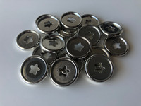 Plastic Planner Discs - Small - Silver - Stars - Set of 11