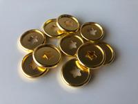 Plastic Planner Discs - Small - Gold - Stars - Set of 11