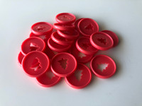 Plastic Planner Discs - Small - Red - Christmas Tree - Set of 11