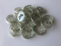 Plastic Planner Discs - Small - Clear Extra Glitter - Butterfly - Set of 11