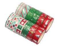 Washi Tapes - Foil Christmas - Set of 12