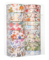 Washi Tapes - Foil Floral - Set of 18