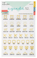 The Paper Studio - A5 Sticker Book - Home Life Foiled Stickers