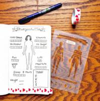 MoxieDori - Fitness Bullet Journal Stencil