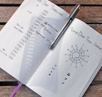MoxieDori - Time Tracker Bullet Journal Stencil
