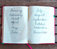 MoxieDori - Cursive Months Bullet Journal Stencil