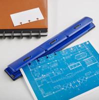 Levenger - Circa® 1-2-3 Portable Punch - Blue
