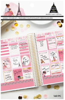 Craft Smith - Capitol Chic Designs - Sticker Book - Pink & Coral Weekly Layout