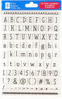 Peter Pauper Press - Letters, Numbers & Symbols Clear Stamp Set