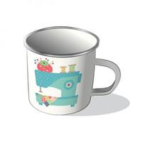 Riley Blake Designs - Lori Holt of Bee in my Bonnet - Vintage Happy 2 Mug