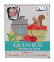 Aurifil - Lori Holt of Bee in My Bonnet - Premium Wool Threads Collection Lana Wool 10 Small Spools