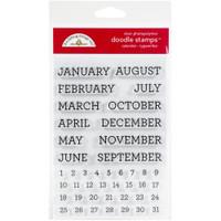Doodlebug Designs - Clear Doodle Stamps - Calendar Typewriter