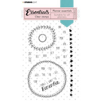 Studio Light - Essentials A6 Stamps - Planner - Months & Days of the Week