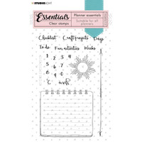 Studio Light - Essentials A6 Stamps - Planner - Numbers & Checklist