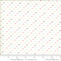Moda Fabric - Shine On - Bonnie & Camille - Over Rainbow White Multi #55218 20