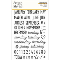 Simple Stories - Carpe Diem - Clear Stamps - Hello Today - Days of the Week, Months, Numbers