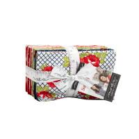 Moda Fabric Precuts - Fat Eighth Bundle - Sunday Stroll by Bonnie & Camille