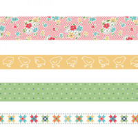Riley Blake Designs - Lori Holt of Bee in my Bonnet -  Farm Girl Vintage Washi Tape
