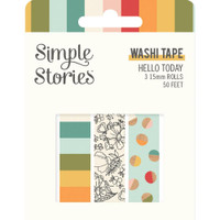 Carpe Diem - Simple Stories - Hello Today Washi Tape - Set of 3