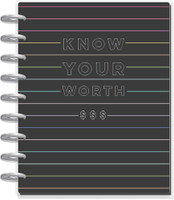 The Happy Planner - Me and My Big Ideas - Classic Happy Planner - Budget Know Your Worth - 12 Months (Undated, Vertical)