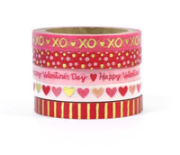 Recollections - Washi Tape - XOXO Gold Valentine's Day