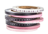 The Paper Studio - Pink and Black Washi Tape (3mm)