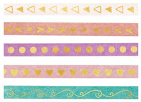 The Paper Studio - Pink & Turquoise Washi Tape (6mm)