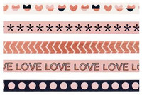 The Paper Studio - Blush & Copper Washi Tape (6mm)