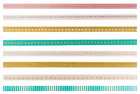 The Paper Studio - Pink and Teal Washi Tape (3mm)