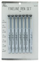 The Paper Studio - Fineline Black Pens - Set of 7