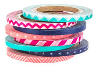 The Paper Studio - Pink and Navy Washi Tape (3mm)