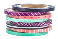 The Paper Studio - Mint and Pink Washi Tape (3mm)