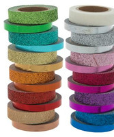 The Paper Studio - Rainbow Glitter Foil Washi Tape - Set of 24