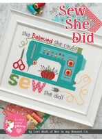 It's Sew Emma - Lori Holt of Bee in My Bonnet - Cross Stitch Pattern - Sew She Did