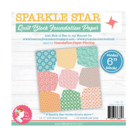 "It's Sew Emma - Quilt Block Foundation Paper - 6"" Sparkle Star"