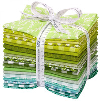Robert Kaufman Fabric Precuts - Fat Quarter Bundle - Paintbox Meadow by Elizabeth Hartman