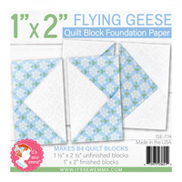 "It's Sew Emma - Quilt Block Foundation Paper - 1"" x 2"" Flying Geese"