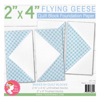 "It's Sew Emma - Quilt Block Foundation Paper - 2"" x 4"" Flying Geese"