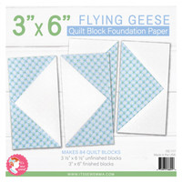 "It's Sew Emma - Quilt Block Foundation Paper - 3"" x 6"" Flying Geese"