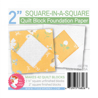 "It's Sew Emma - Quilt Block Foundation Paper - 2"" Square in a Square"