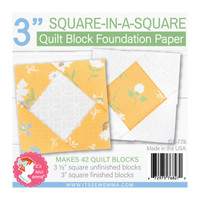 "It's Sew Emma - Quilt Block Foundation Paper - 3"" Square in a Square"