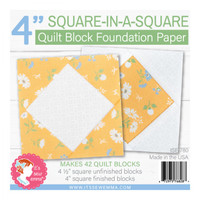 "It's Sew Emma - Quilt Block Foundation Paper - 4"" Square in a Square"