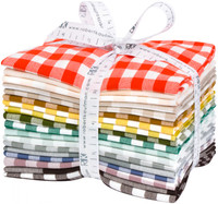Robert Kaufman Fabric Precuts - Fat Quarter Bundle - Kitchen Woven Windows by Elizabeth Hartman
