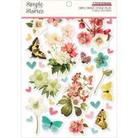 Carpe Diem - Simple Stories - A5 Sticker Book - Simple Vintage Cottage Fields
